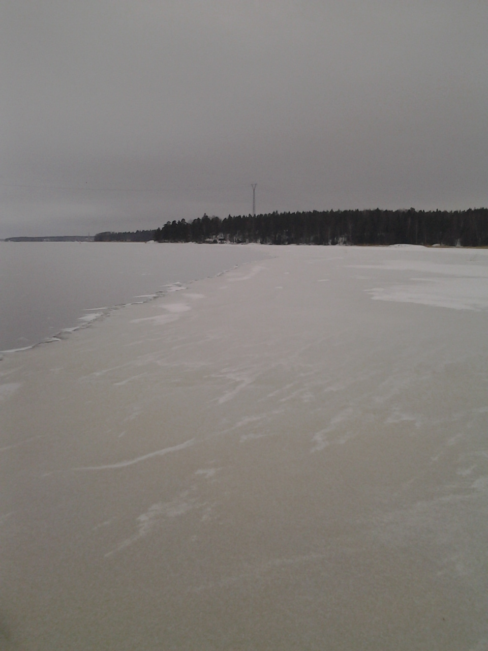 A border between new and old ice