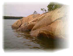When paddling in the southern archipelago honed rocks are prevailing
